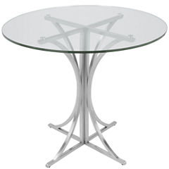 Boro Glass-Top Round Dining Table