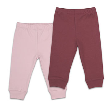 The Peanutshell Baby Girls 2-pc. Mid Rise Tapered Pull-On Pants