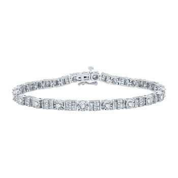 3 CT. T.W. Genuine Diamond 10K White Gold 7.5 Inch Tennis Bracelet