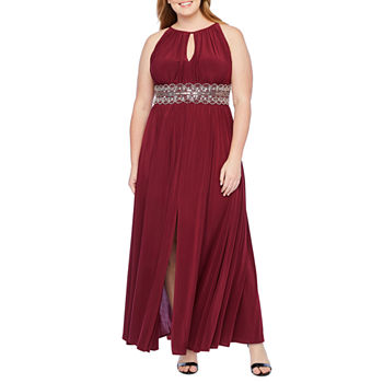R & M Richards Sleeveless Embellished Evening Gown-Plus