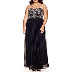 My Michelle® Strapless Beaded Dress - Juniors Plus