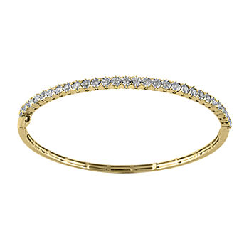 1 CT. T.W. Genuine Diamond 10K Gold Bangle Bracelet