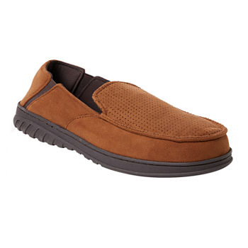 9c4dde3c7e0 Dearfoams® Perforated Moccasin Slippers with Gore
