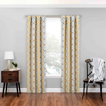 Eclipse Morrow Energy Saving Blackout Rod-Pocket Single Curtain Panel