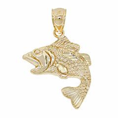 Unisex 14K Gold Pendant Necklace