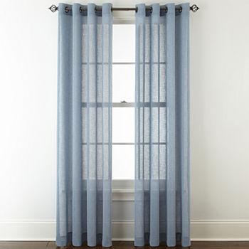 Sheer Curtain Panels Blue Curtains