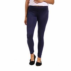 24/7 Comfort Apparel Knit Leggings-Maternity