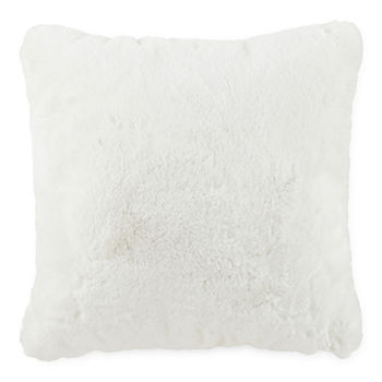 Loom + Forge Tipped Fur Square Throw Pillow