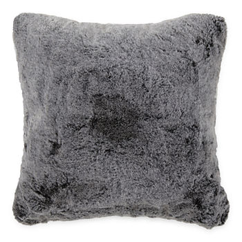 Loom + Forge Square Tipped Fur Square Throw Pillow