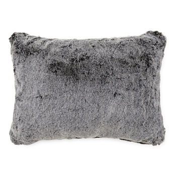 Loom + Forge Tipped Fur Lumbar Pillow