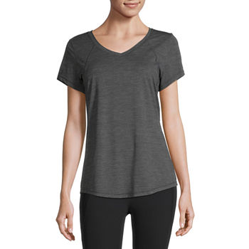 Xersion Womens V Neck Short Sleeve T-Shirt