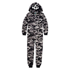 Grey Skull One Piece Pajama - Boys 4-20