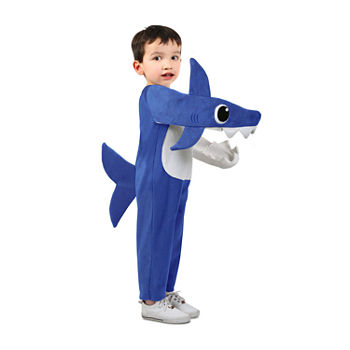 Child Chompin' Daddy Shark Costume With Sound Chip Unisex Costume Unisex Costume