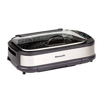 PowerXL Smokeless Indoor Grill With Hinged Glass Lid