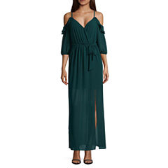 by&by Short Sleeve Maxi Dress-Juniors