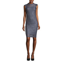 Kelly Renee Sleeveless Lace Bodycon Dress
