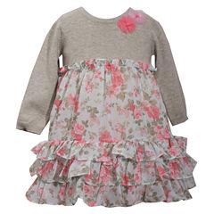 Bonnie Jean Short Sleeve A-Line Dress - Baby Girls