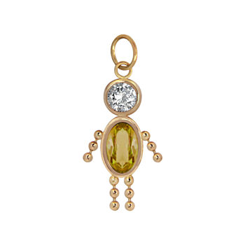 10K Gold November Birthstone Babies Boy Charm
