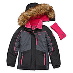 Weatherproof Girls Heavyweight Ski Jacket-Big Kid