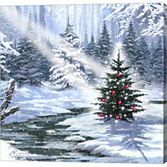 Little Christmas Tree 1 Gallery Wrapped Canvas Wall Art On Deep Stretch Bars
