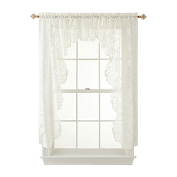 Swag White Curtains Drapes For Window
