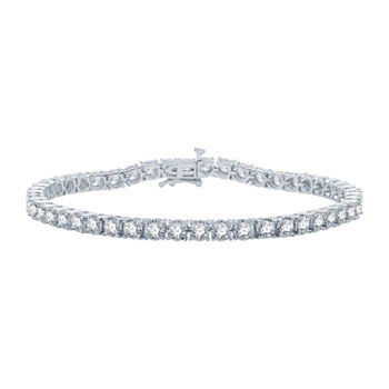 5 CT. T.W. Genuine Diamond 10K White Gold 7.5 Inch Tennis Bracelet