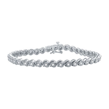 1 CT. T.W. Genuine Diamond Sterling Silver 7.5 Inch Tennis Bracelet