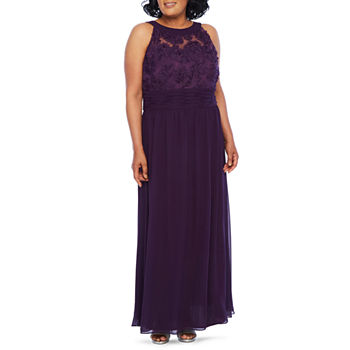 Scarlett Sleeveless Evening Gown-Plus
