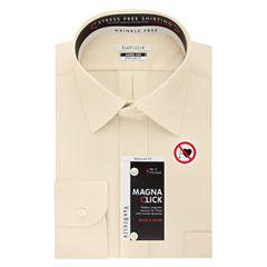 Van Heusen Easy-Care Magnaclick Long Sleeve Twill Dress Shirt
