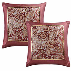 Madison Park Churchill Jacquard Square Throw Pillow Pair