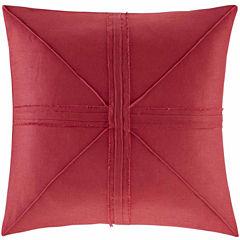 Madison Park Enid Oversized Linen Frayed Decorative Throw Pillow