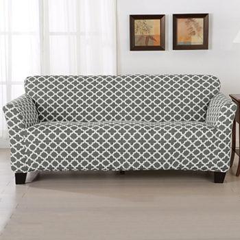 Phenomenal Trellis Stretch Fit Sofa Slip Cover Pabps2019 Chair Design Images Pabps2019Com