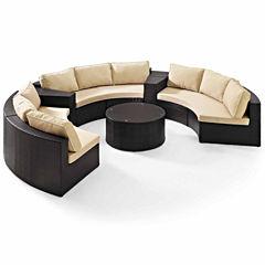 Crosley Catalina Wicker 6-pc. Patio Lounge Set