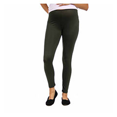 24/7 Comfort Apparel Knit Leggings-Plus Maternity