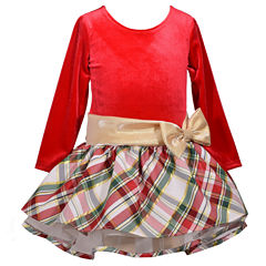 Bonnie JeanLong Sleeve Drop Waist Dress - Toddler Girls