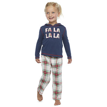 North Pole Trading Co. Fa La La Toddler Unisex Christmas Pajama Set 2-pc