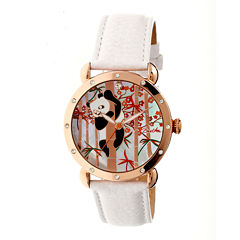 Bertha Lilly Womens Mother Of Pearl Dial White Leather Strap Watch Bthbr4509