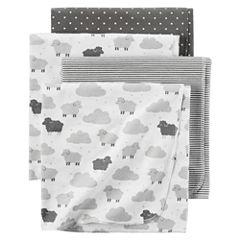Carter's Girl Grey Sheep 4pk Blanket