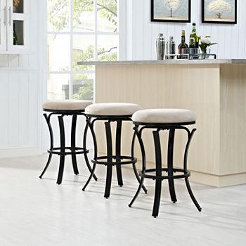 Hedley Upholstered Swivel Counter Stool
