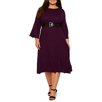 Plus Size Belted Dresses For Women Jcpenney