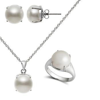 Nickel Free Pearl Earrings Necklaces