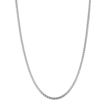Sterling Silver Solid Box Chain Necklace
