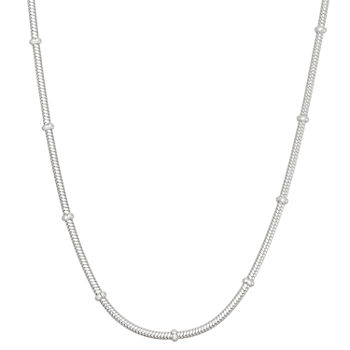 Sterling Silver Solid Snake Chain Necklace