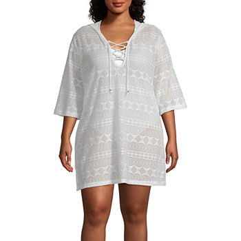 2ab7b374d0aee Plus Size Swimsuit Cover-ups Online Only Specials for Shops - JCPenney