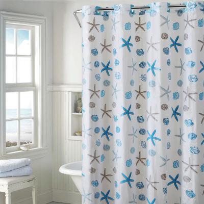 Peva   Shower Curtains Blue