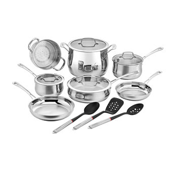 Cuisinart Contour 14-pc. Stainless Steel Cookware Set With Tools