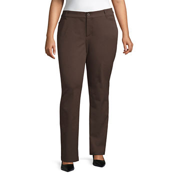 3f91e9d83 Plus Size Brown Pants for Women - JCPenney