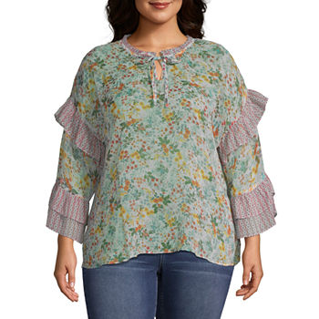 8709c8383f A.n.a Plus Size Tops for Women - JCPenney