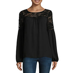 Alyx Bell Sleeve Lace Yoke Blouse