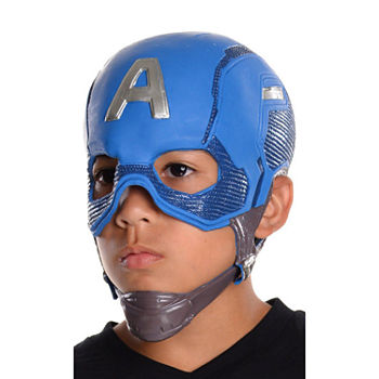 Avengers Kids Captain America 3/4 Mask Dress Up Costume Boys